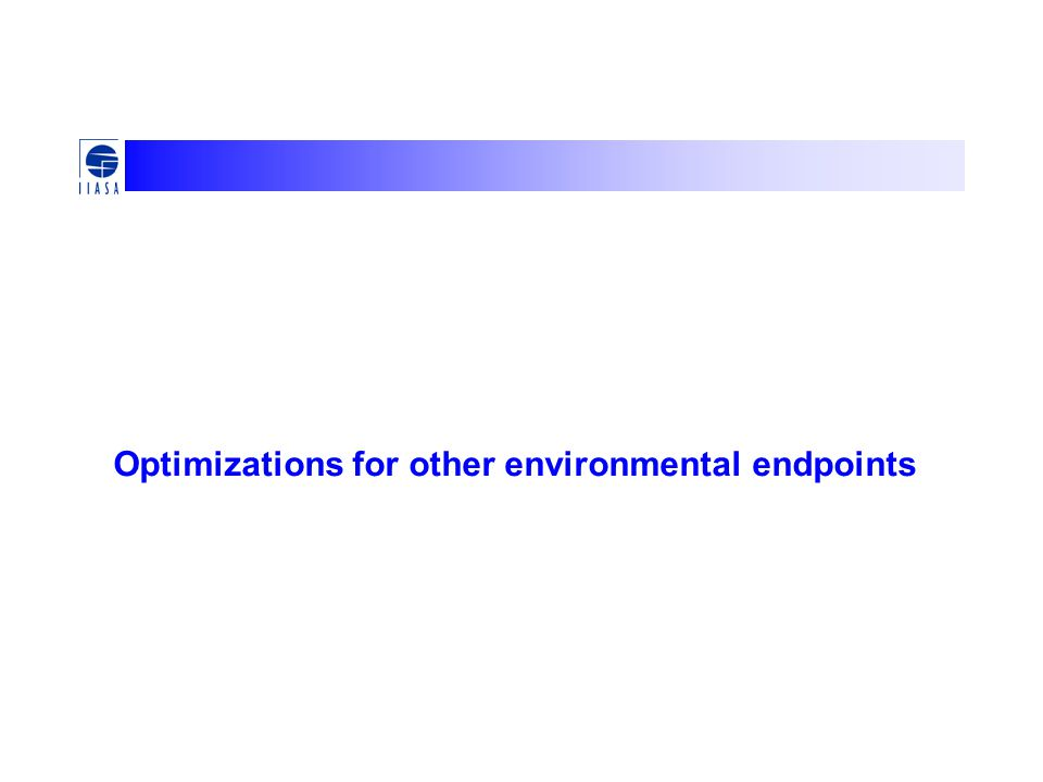 Optimizations for other environmental endpoints