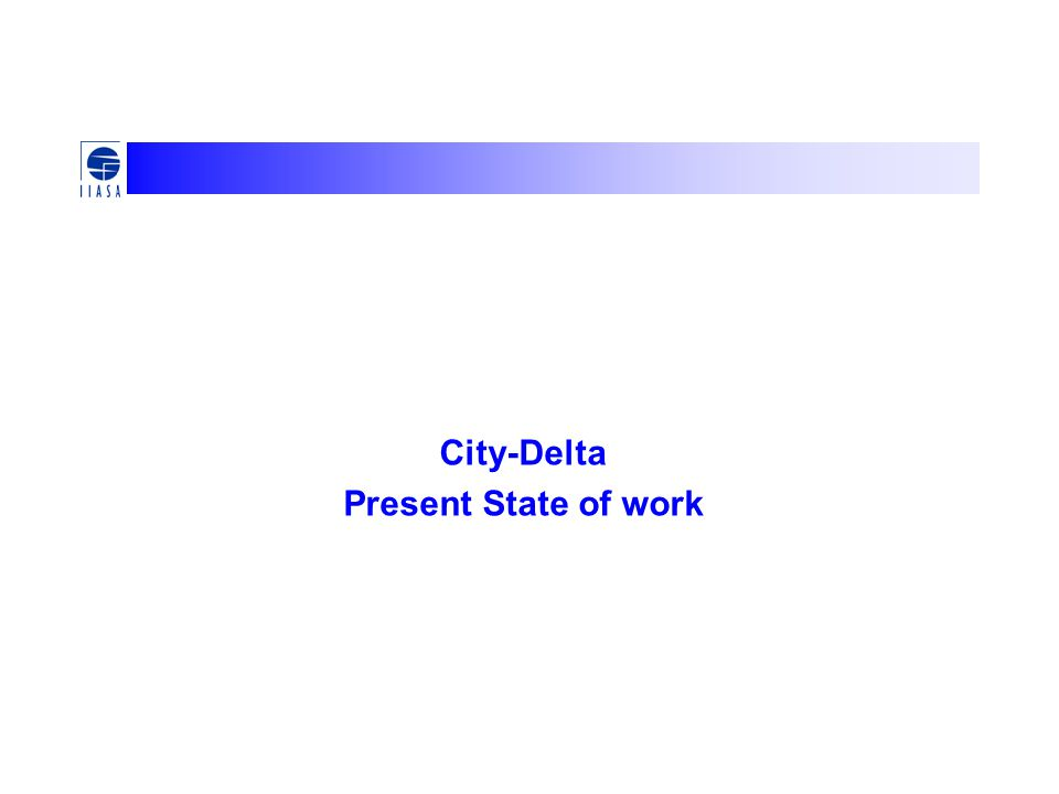 City-Delta Present State of work
