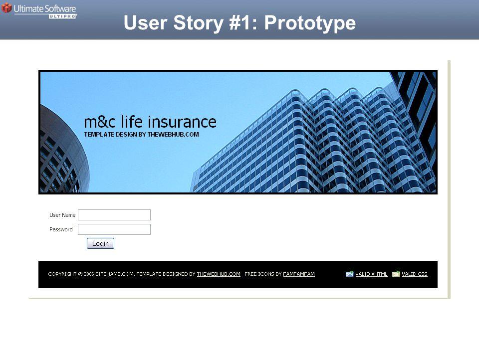 User Story #1: Prototype