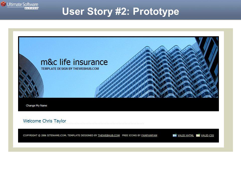 User Story #2: Prototype