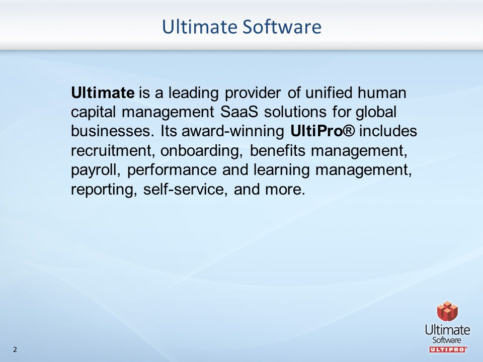 22 Ultimate is a leading provider of unified human capital management SaaS solutions for global businesses.