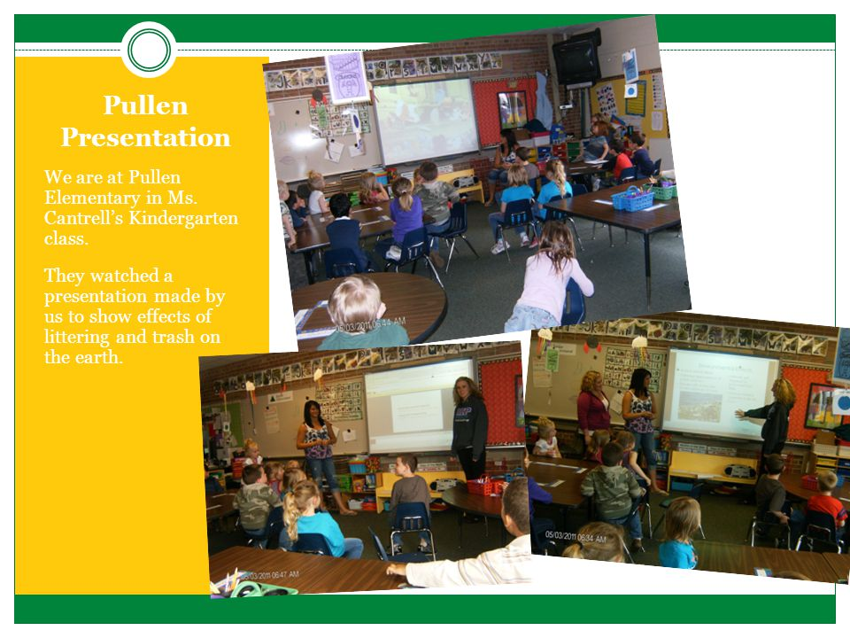 Pullen Presentation We are at Pullen Elementary in Ms.