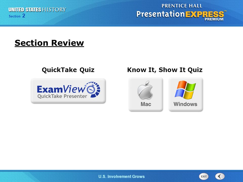 Chapter 25 Section 1 The Cold War Begins Section 2 U.S. Involvement Grows Section Review Know It, Show It Quiz QuickTake Quiz