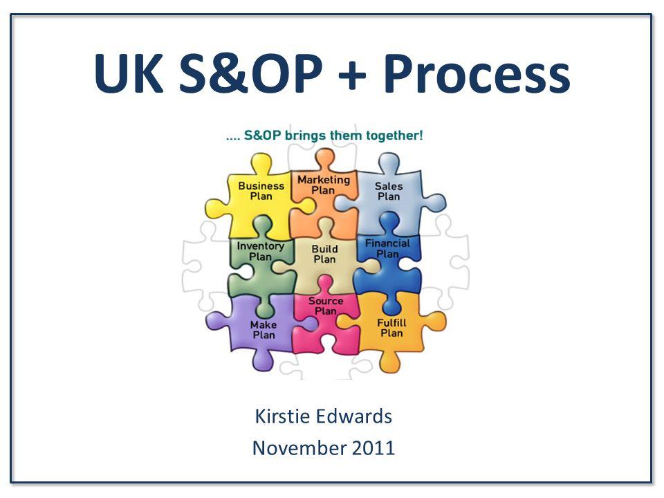 UK S&OP + Process Kirstie Edwards November 2011