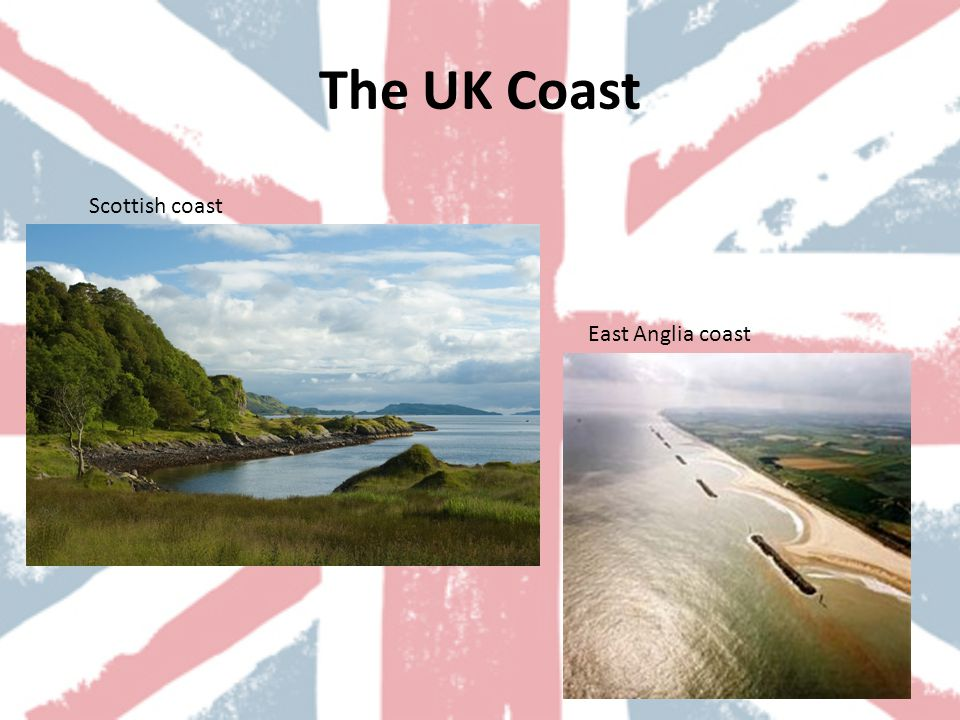 The UK Coast East Anglia coast Scottish coast