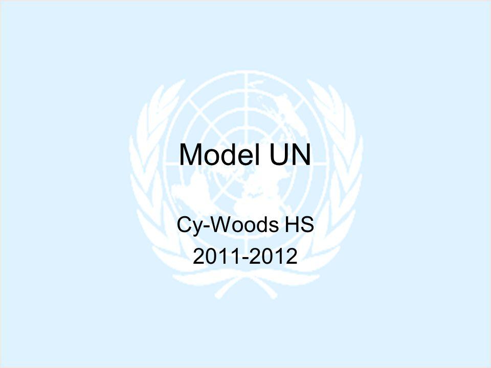 Model UN Cy-Woods HS 2011-2012