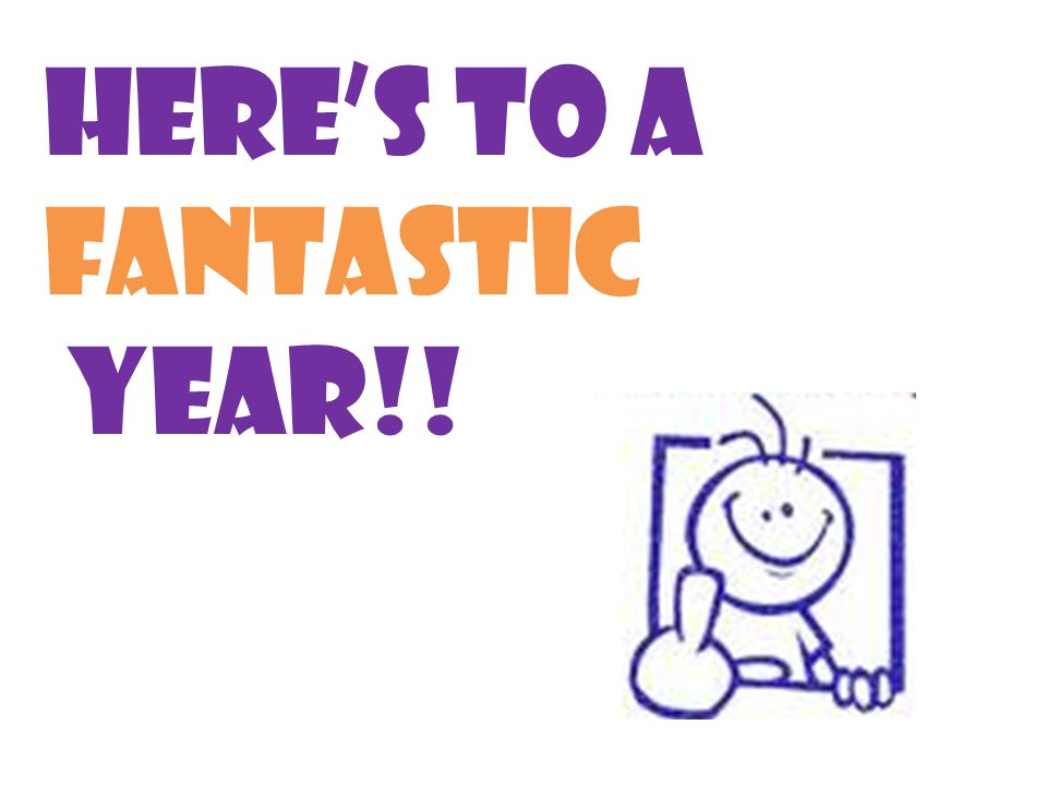 Here's to a fantastic year!!