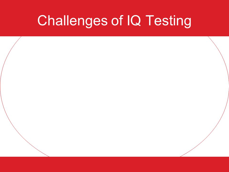 Challenges of IQ Testing