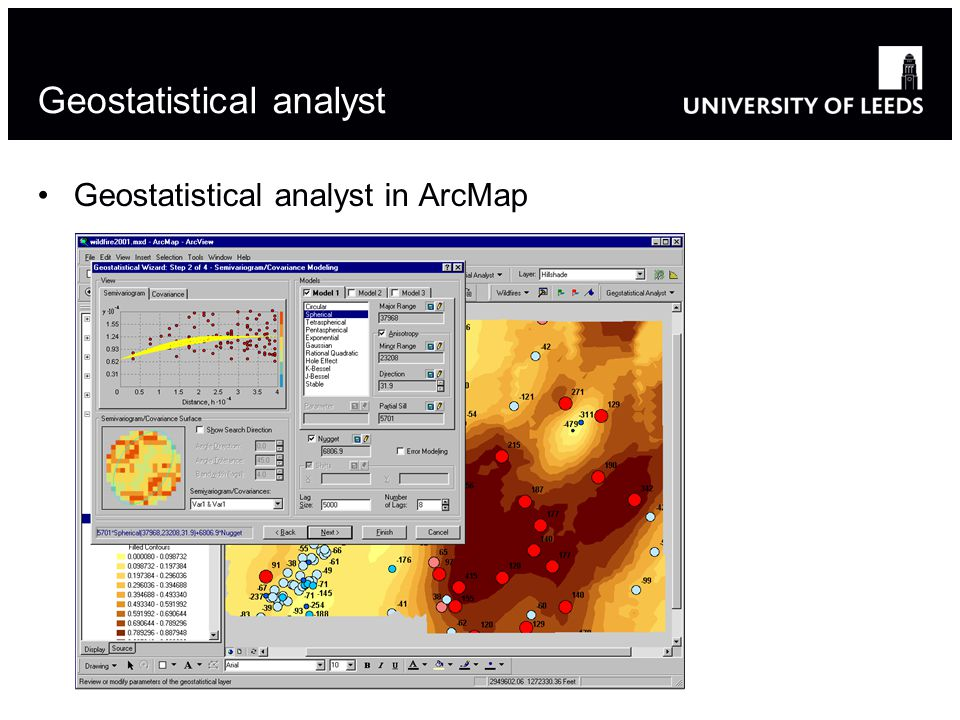 Geostatistical analyst Geostatistical analyst in ArcMap