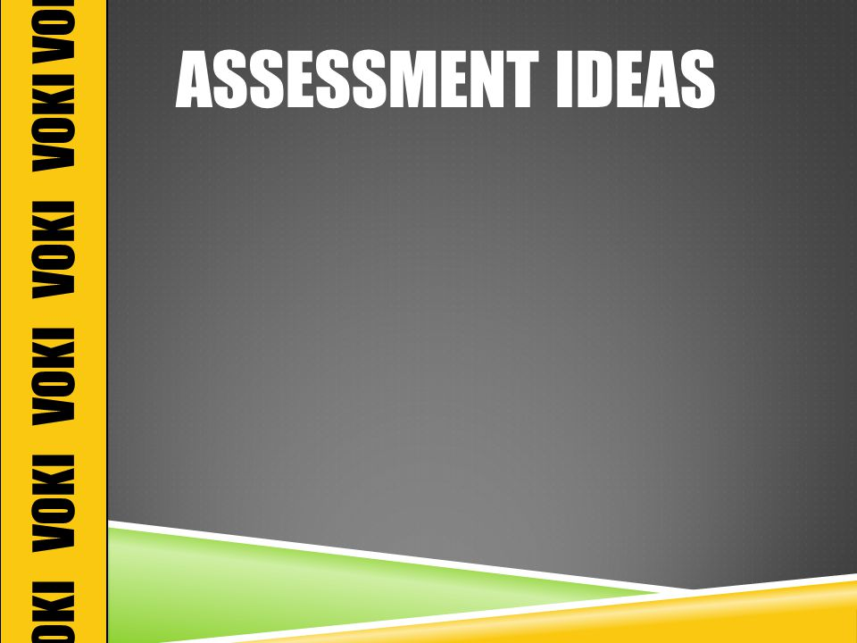ASSESSMENT IDEAS VOKI VOKI VOKI