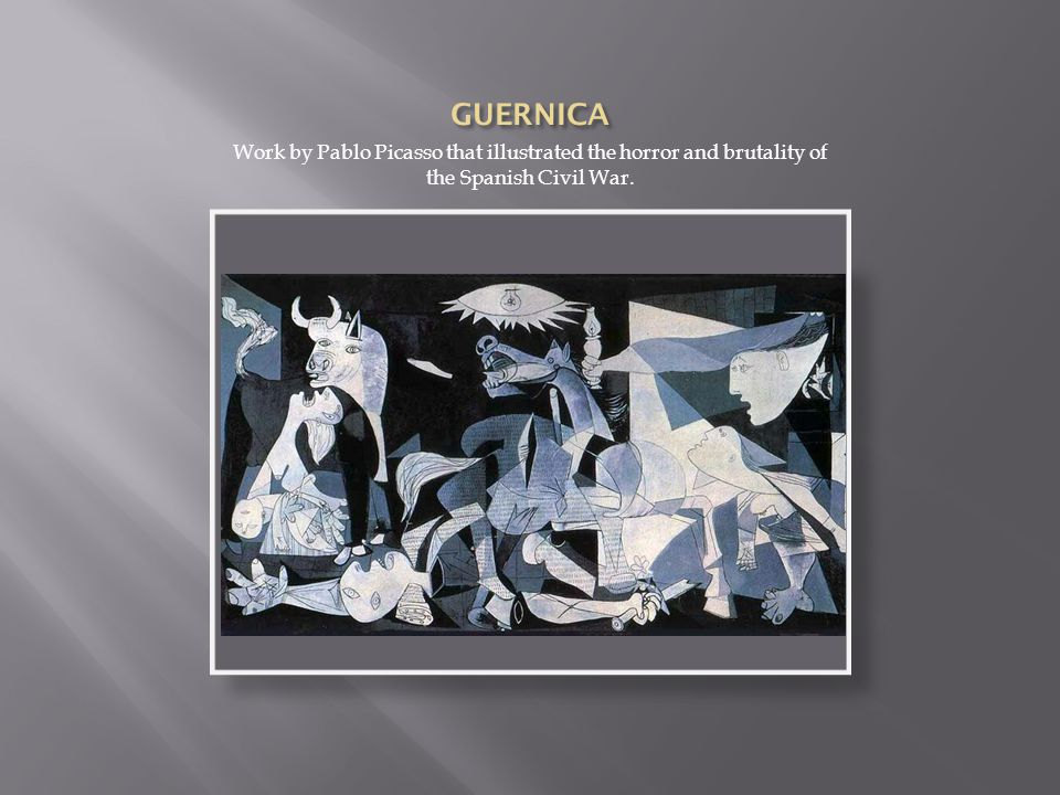 Work by Pablo Picasso that illustrated the horror and brutality of the Spanish Civil War.