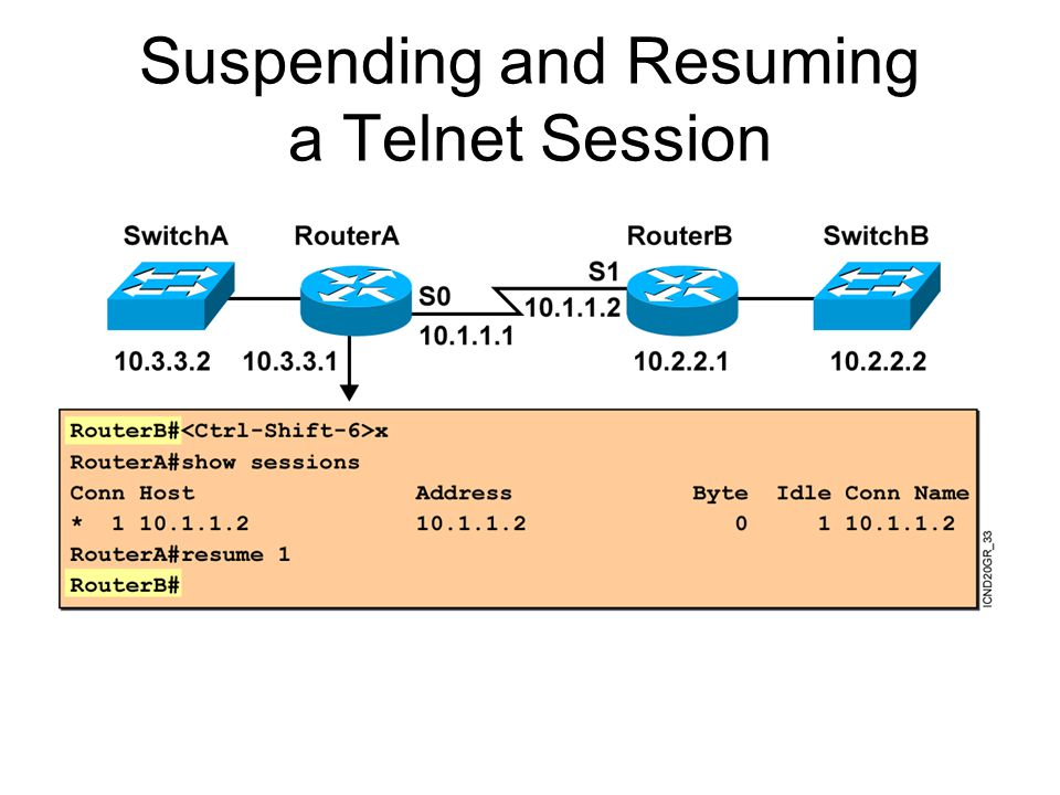 Suspending and Resuming a Telnet Session
