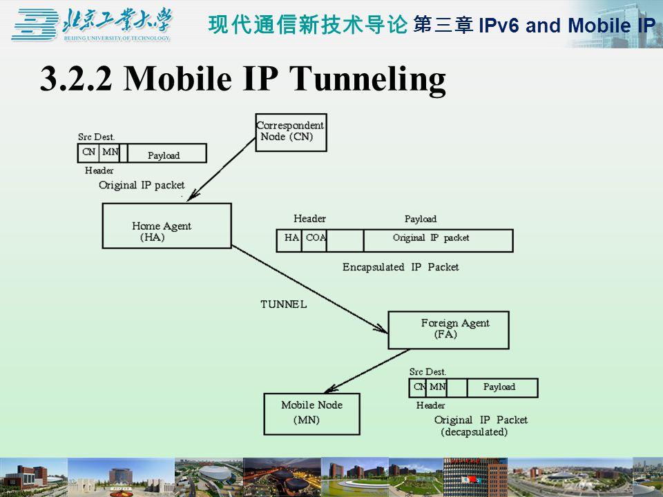 现代通信新技术导论 第三章 IPv6 and Mobile IP 3.2.2 Mobile IP Tunneling