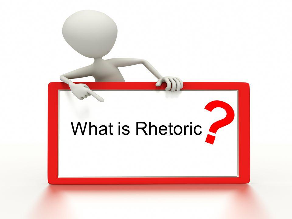 Rhetoric The art or study of using language effectively and persuasively.