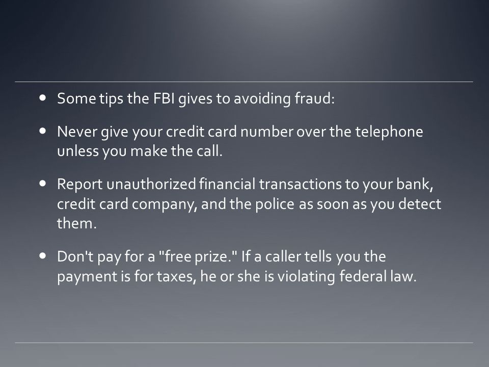 Avoiding fraud As with most things if it looks to good to be true it most likely is.