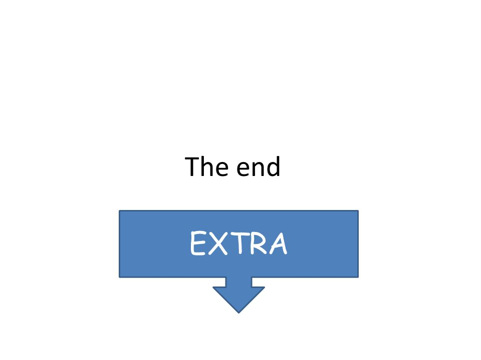 The end EXTRA