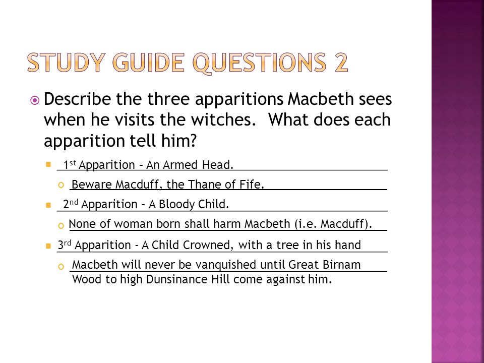  What question has Macbeth come to ask the witches, and how do they answer.