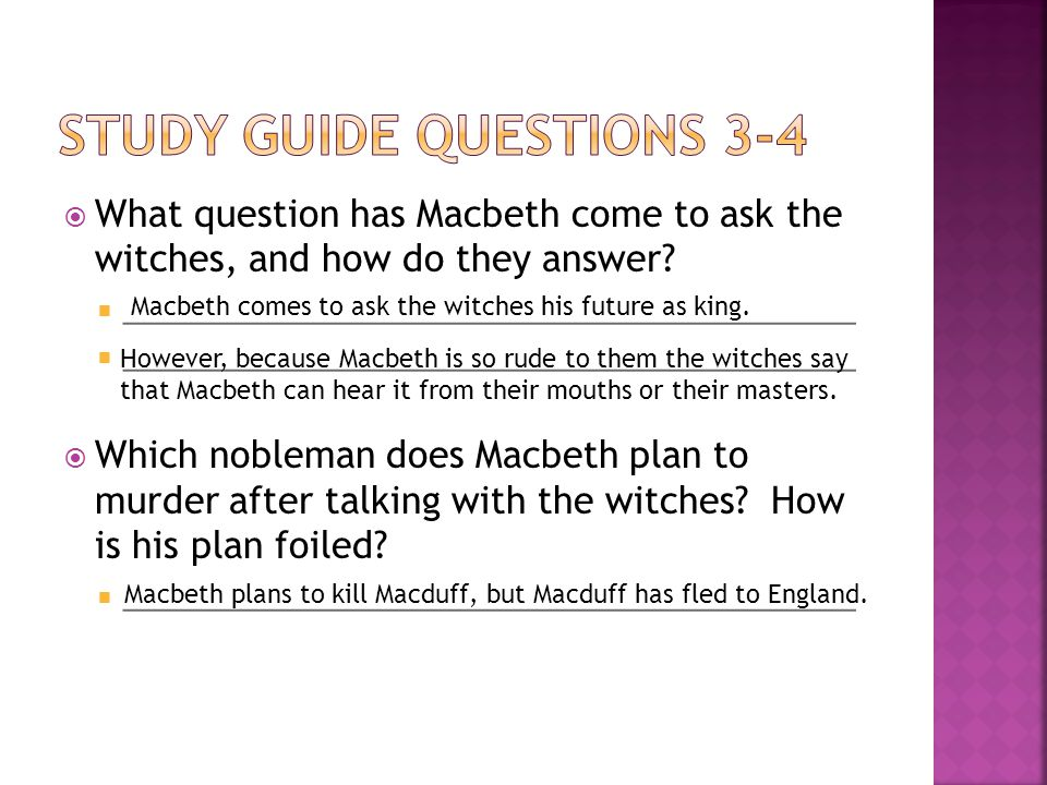  At the end of Scene 1, what does Macbeth vow.Describe the way his vow is carried out in Scene 2.