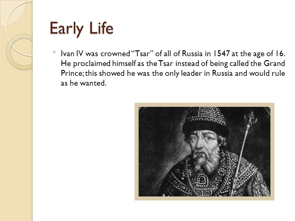 Success Under Ivan IV's rule, 6,000 Russians defeated 30,000 of their enemies, the Tartars, in the city of Kazan.