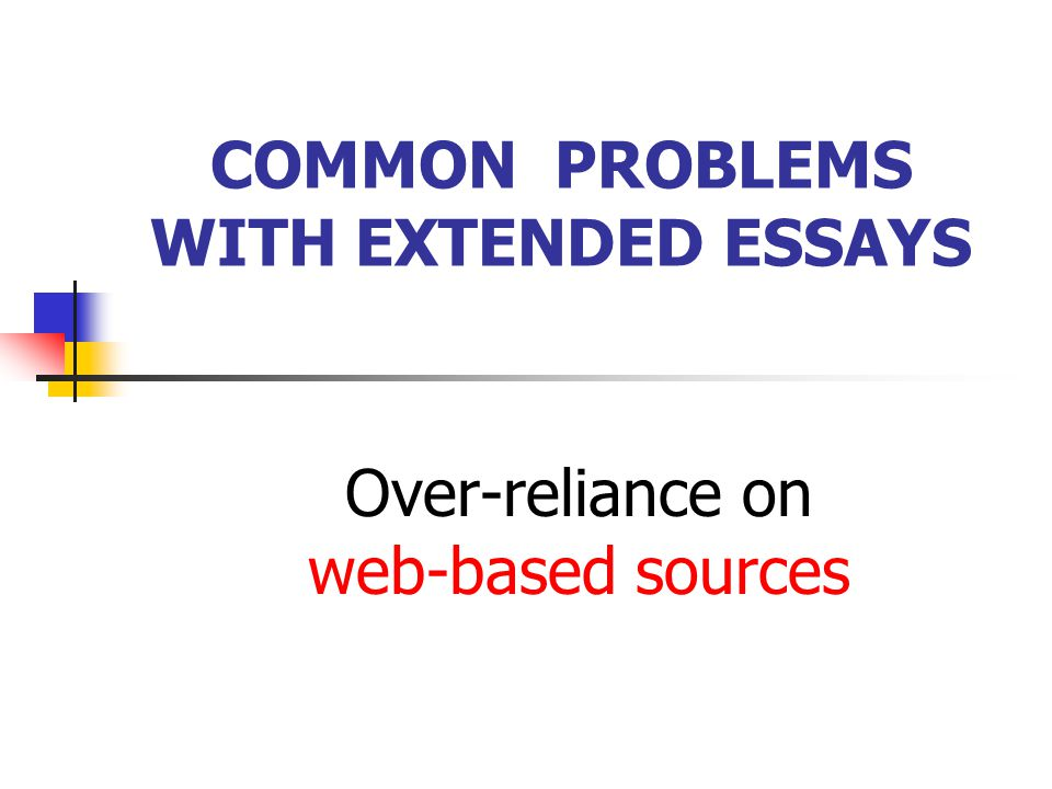 COMMON PROBLEMS WITH EXTENDED ESSAYS PLAGIARISM The use of the work of other authors (texts, data, creative productions, oral statements OR ideas) wit