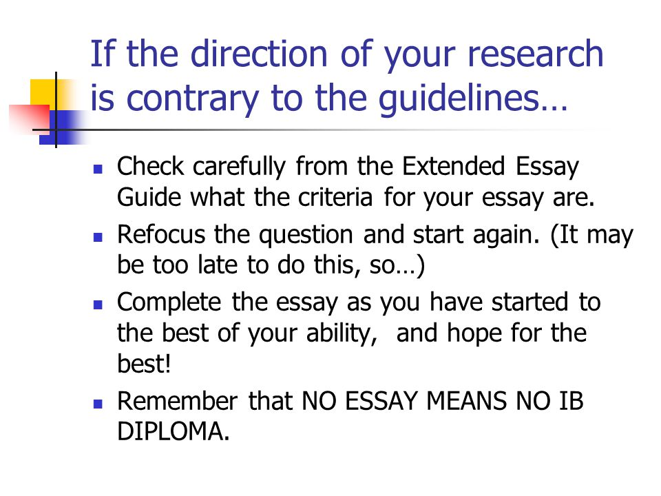 If you have not focused your research question appropriately for the size of the essay or the discipline… Remember that your research question needs t