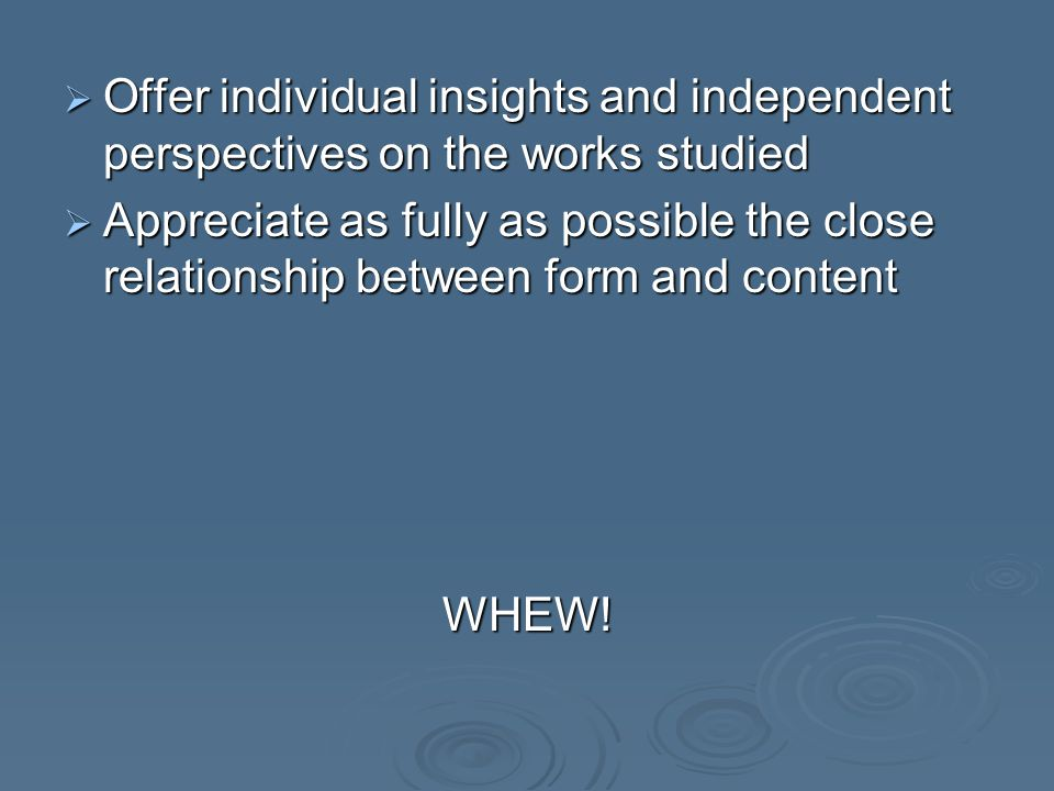 Guiding Questions:  The purpose of the guiding questions is to offer candidates a starting point for organizing the commentary  They will help you explore such aspects as the presentation & role of characters relationshipsthemes use of language significance of the extract to the development of the larger work effects of structure, style, technique