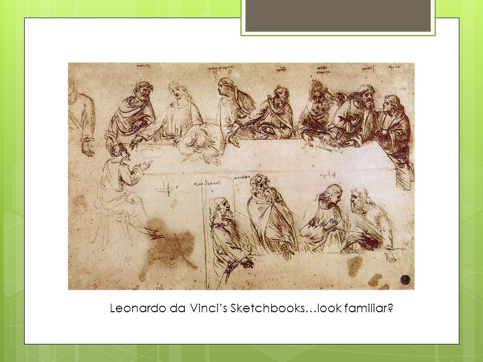 Leonardo da Vinci's Sketchbooks…look familiar?