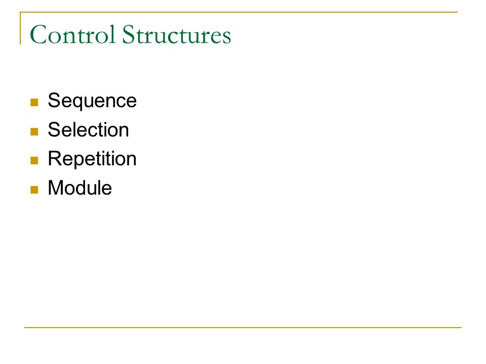 Selection If or if / else statement choosing between mutually exclusive possibilities Two forms see next slide