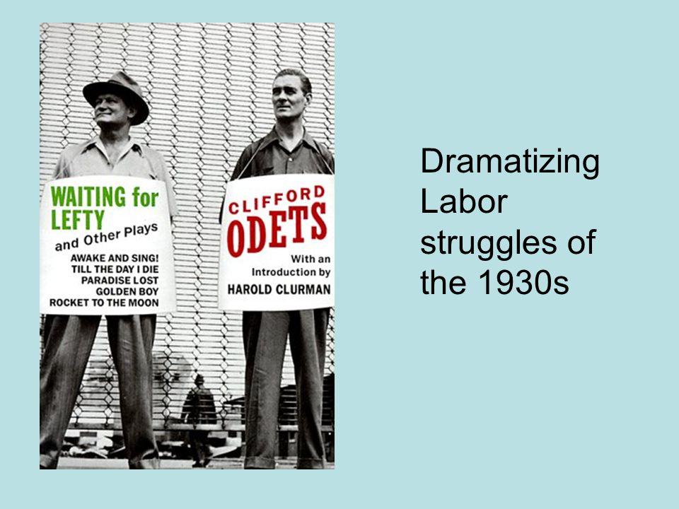 Dramatizing Labor struggles of the 1930s