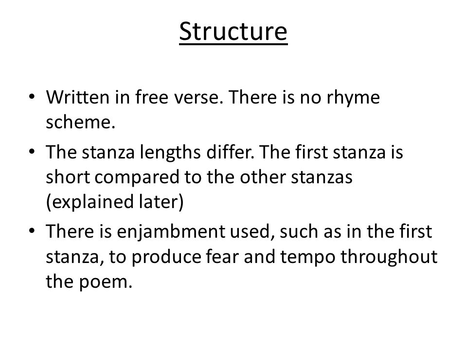 Analysis The stanza is exceptionally small in length in comparison with the other stanzas.
