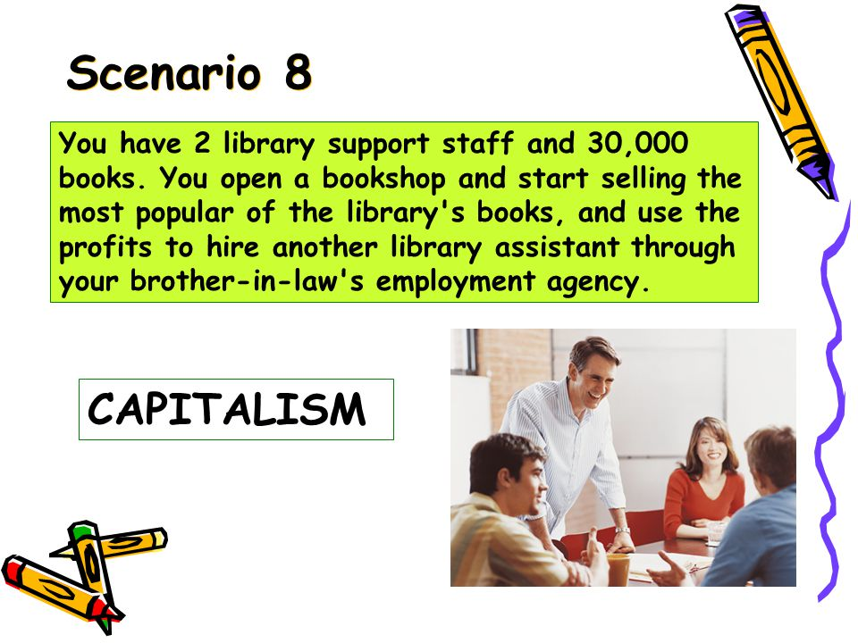 Scenario 7 PURE DEMOCRACY You have 2 library support staff and 30,000 books.