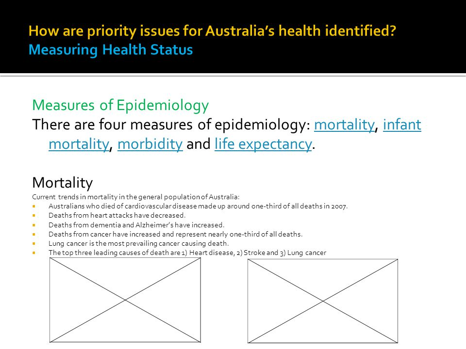 Measures of Epidemiology There are four measures of epidemiology: mortality, infant mortality, morbidity and life expectancy.mortalityinfant mortality