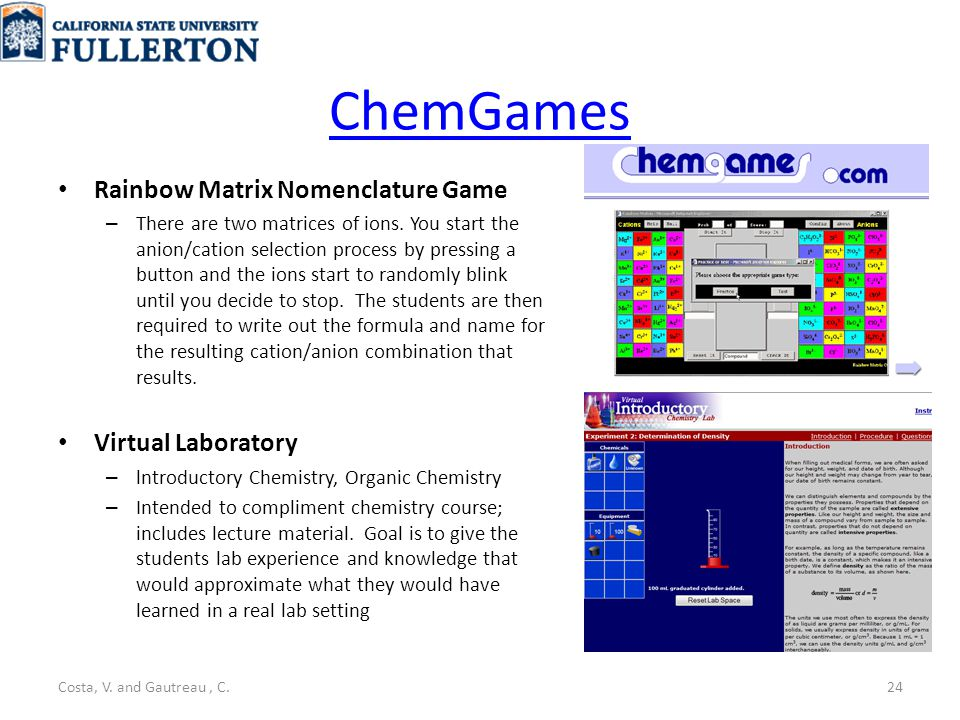 ChemGames Rainbow Matrix Nomenclature Game – There are two matrices of ions.