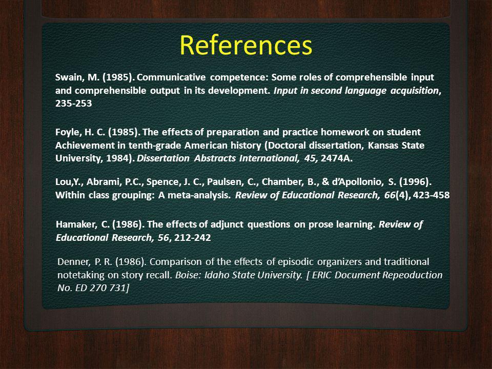 References Foyle, H. C. (1985).
