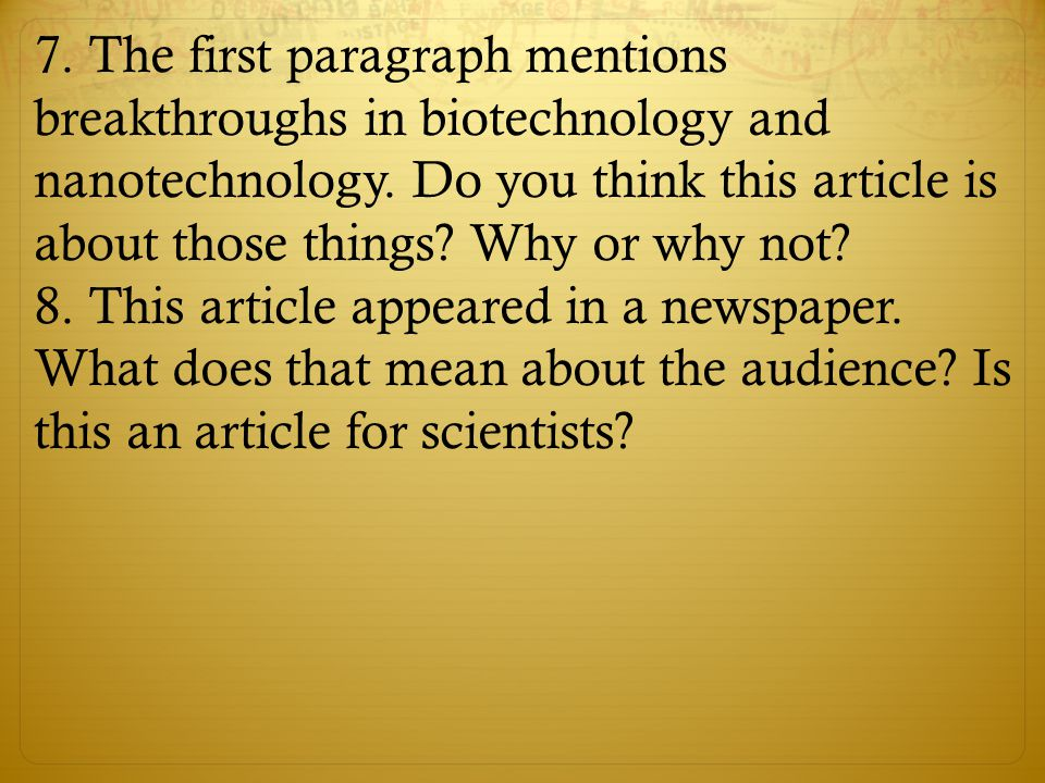 After reading the article again, answer the following questions: What is the thesis of Rifkin's article.