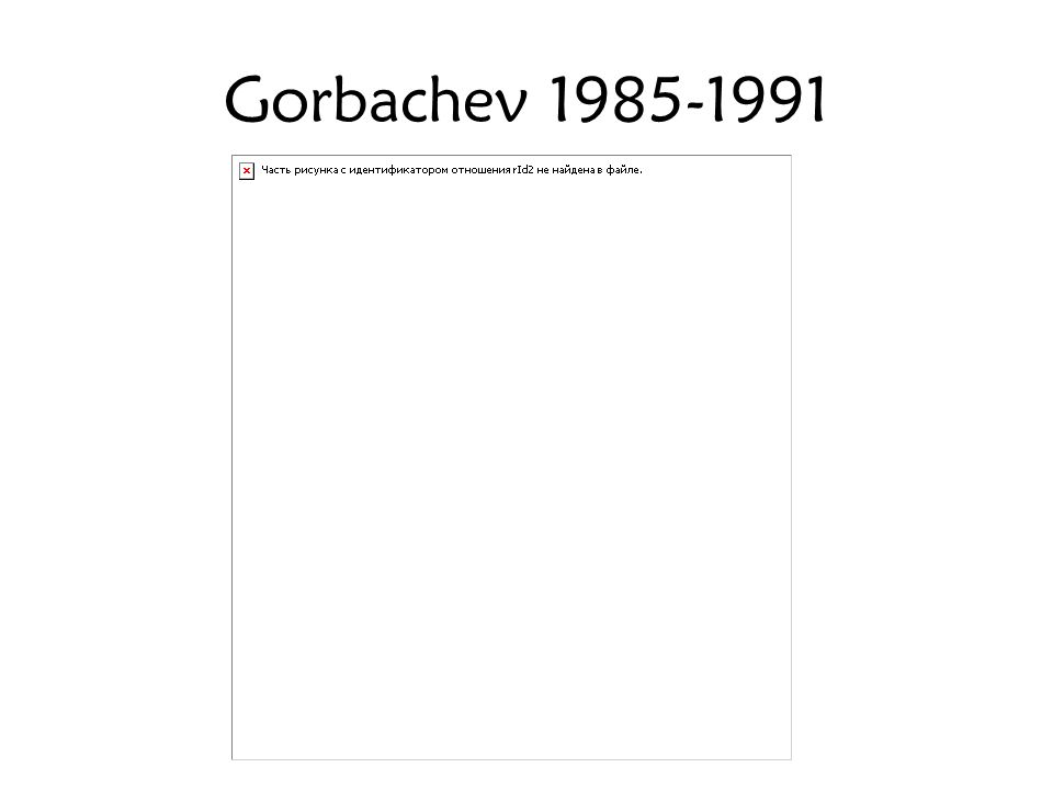 Gorbachev 1985-1991