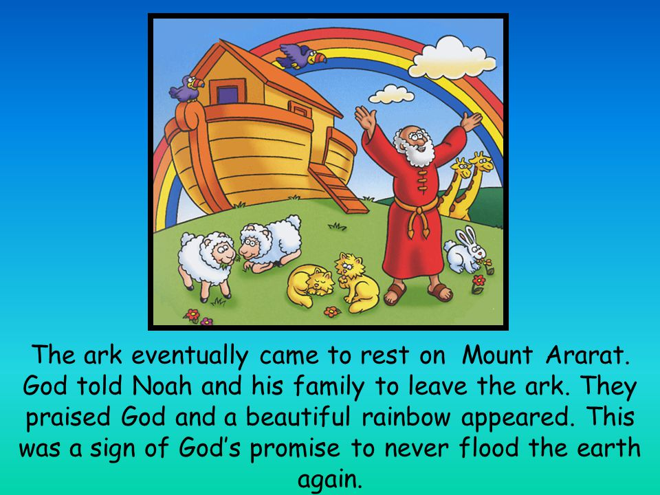 Noah opened a window on the ark.