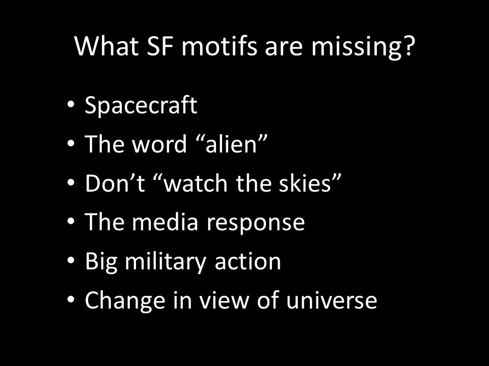 What SF motifs are missing.