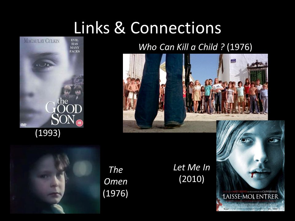 Links & Connections The Omen (1976) Let Me In (2010) (1993) Who Can Kill a Child ? (1976)