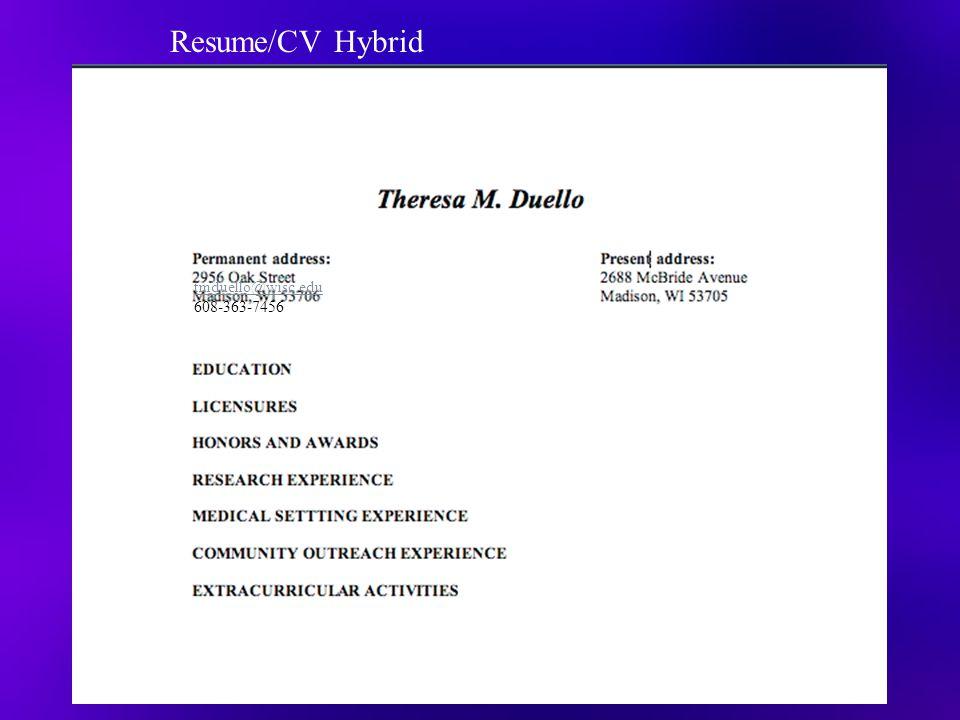 tmduello@wisc.edu 608-363-7456 Resume/CV Hybrid