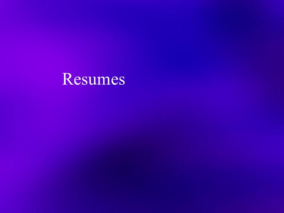 Resumes