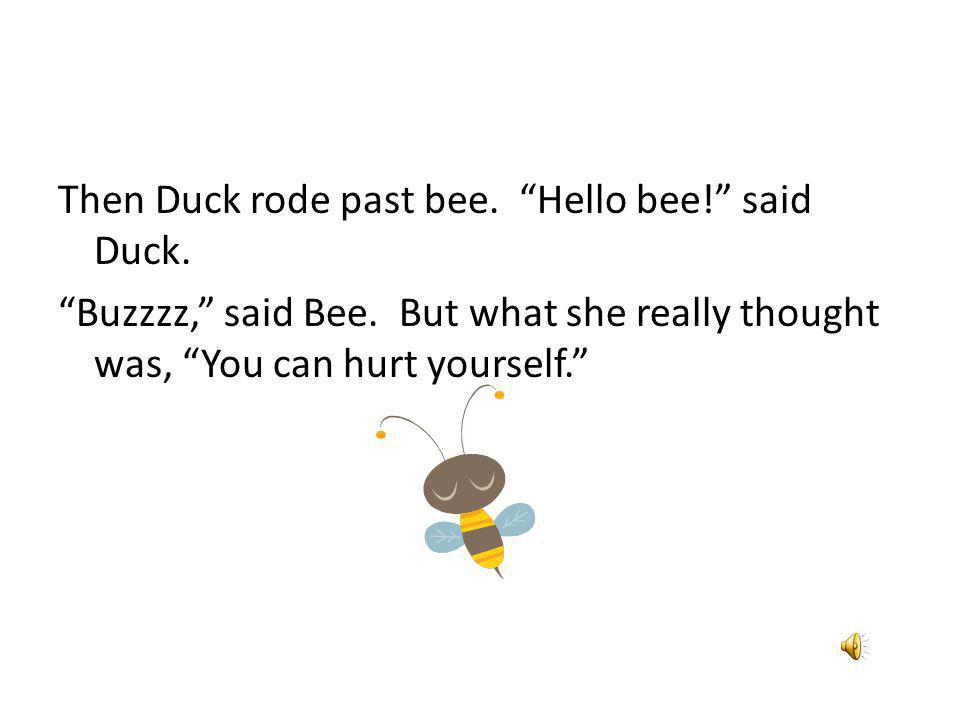One day, down on the farm, Duck got a wild idea. I bet I could ride a tractor, he thought.