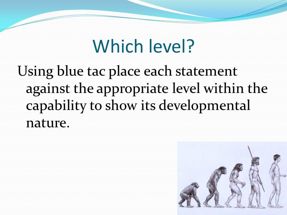 Which level.
