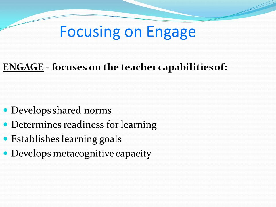 Develops metacognitive capacity e 5 : The teacher supports students to evaluate their own and others' thinking.