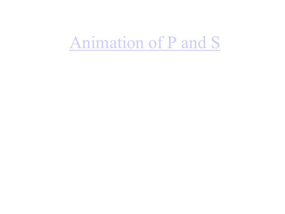 Animation of P and S