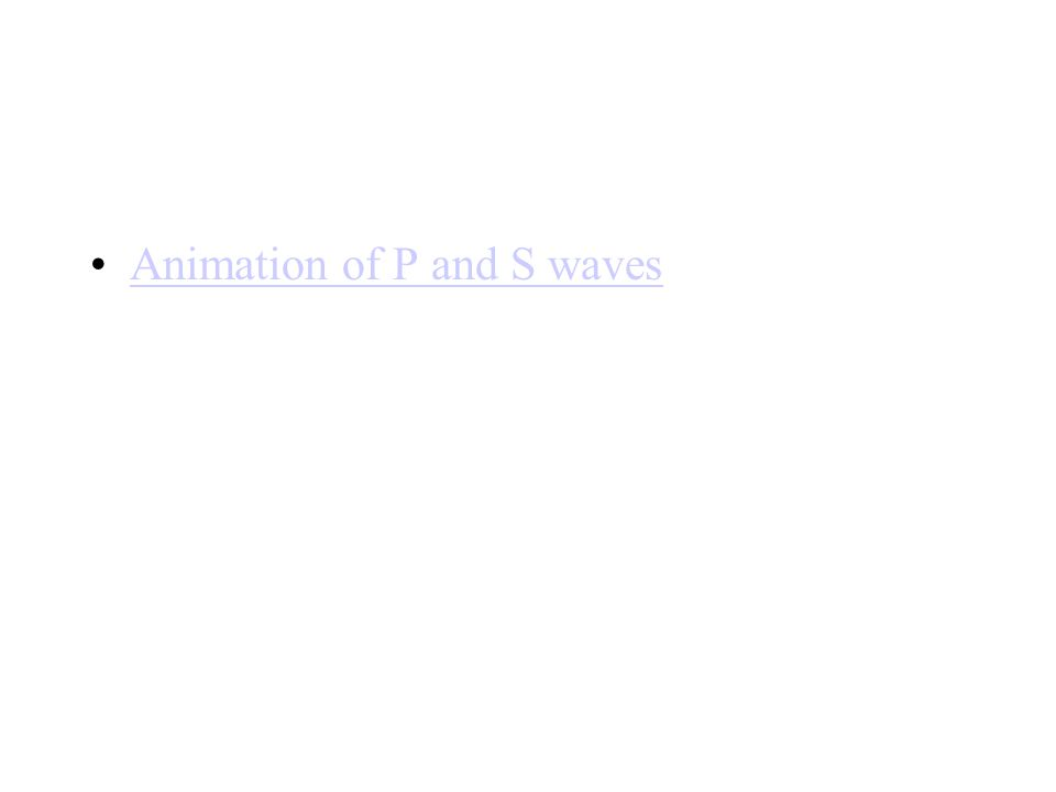 Animation of P and S waves