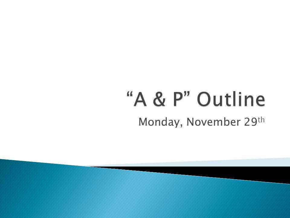 Monday, November 29 th