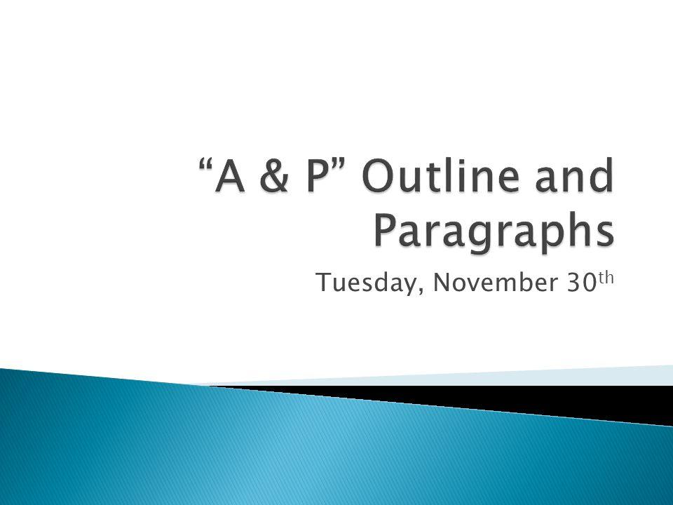 Tuesday, November 30 th