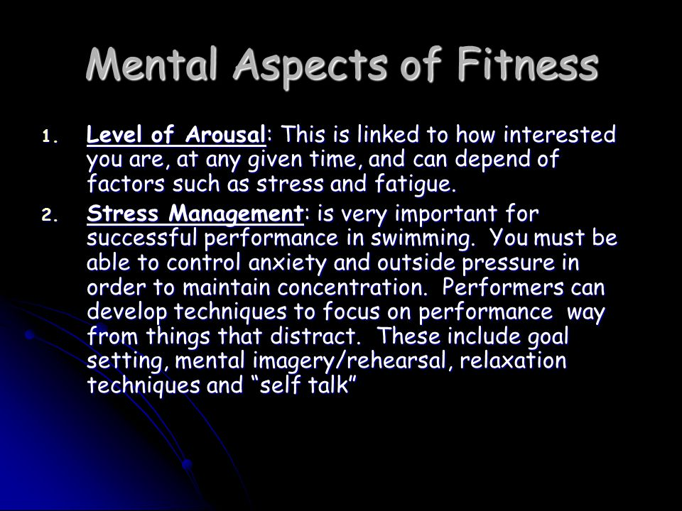 Mental Aspects of Fitness 1.