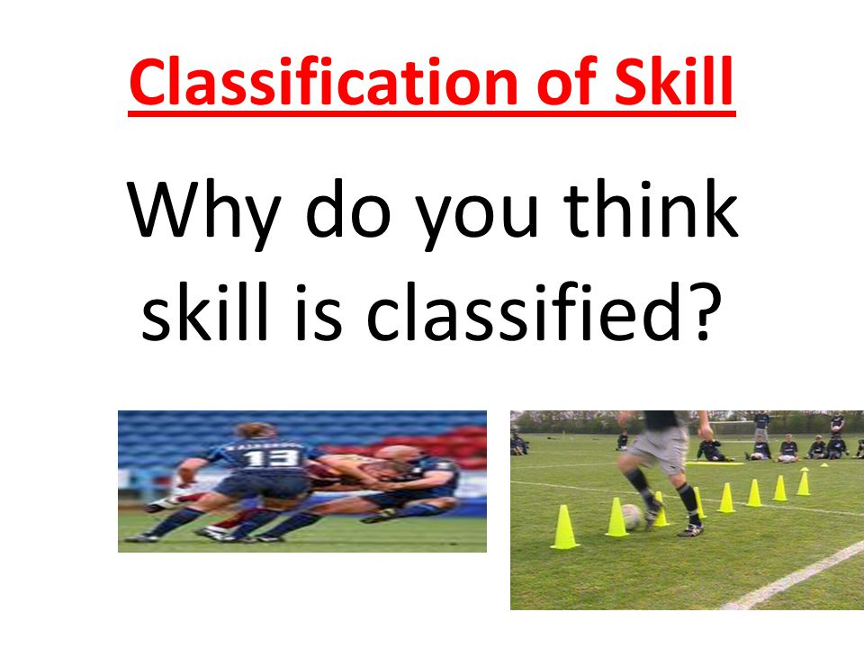 Classification of Skill Why do you think skill is classified?